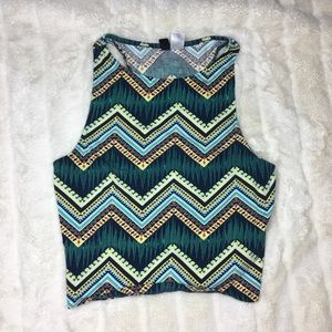 H&M Divided Tribal Print Crop Top